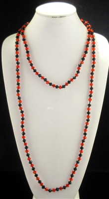 "CN608RBL 60"" 8MM RED & BLACK CRYSTAL NECKLACE"