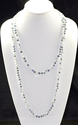 "CN608WHGY 60"" 8MM WHITE GRAY CRYSTAL NECKLACE"