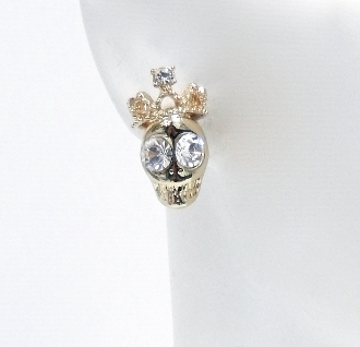 E-5273 SKULL STUD EARRINGS