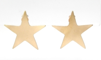 E2437 STAR CLIP ON EARRINGS