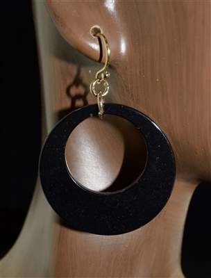 E9048 TORTOISE SHELL HOOP EARRINGS