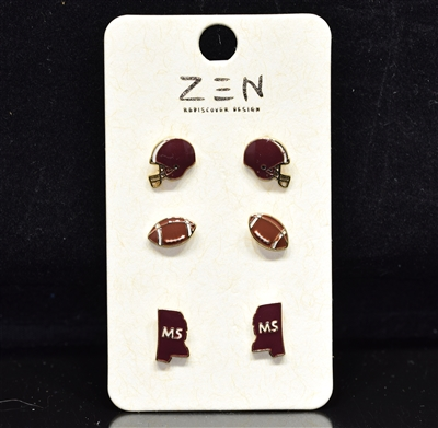 EE0228 MS Football Earring Pack