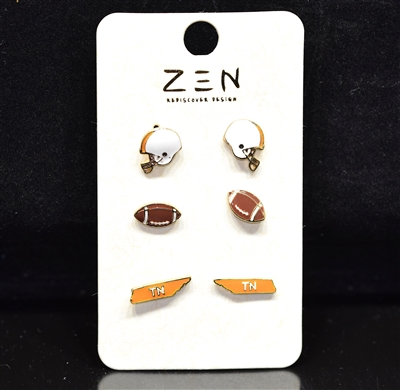 EE0229 TN Football Earring Pack