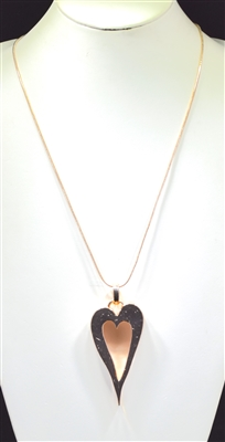 EN18213 HAMMERED OPEN HEART NECKLACE