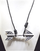 ANTIQUE/HAMMERED ARROW NECKLACE