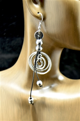 ER001 SILVER CIRCLE EARRINGS
