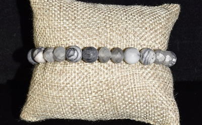 FB2105 NATURAL STONE STRETCH BRACELET