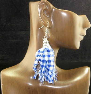 FBT003-E FABRIC TASSEL EARRINGS