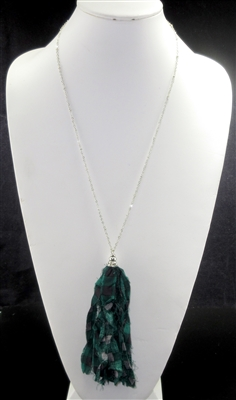 FBT004 FABRIC TASSEL NECKLACE