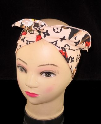 FH4213NT NATURAL MULTI FLOWERS WIRED HEADBAND