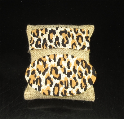 FH686 LEOPARD PRINT CLOTH HAIR CLIP SET
