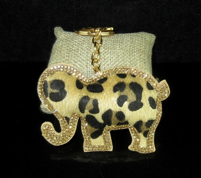 FKR206 ANIMAL PRINT ELEPHANT KEY CHAIN