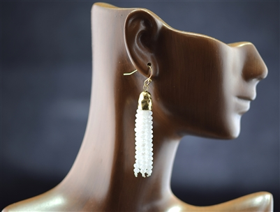 GZE-221 Beaded Tassel Earrings
