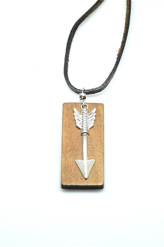 GZN-349 WOOD ARROW NECKLACE