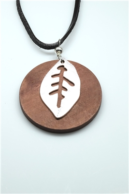 GZN-358 WOOD LEAF NECKLACE
