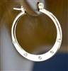 H0040 HYPO-ALLERGENIC PLEATED SMALL HOOP EARRINGS