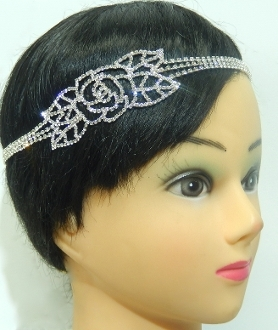 H2637 ROSE CRYSTAL HEADBAND