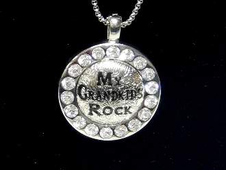 HS42 MY GRANDKIDS ROCK SMALL PENDANT