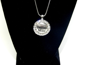 HS46 BASEBALL MOM SMALL PENDANT