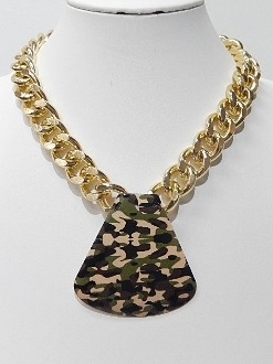 HWN10004 CHAIN CAMO NECKLACE