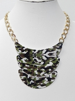 HWN10005 BLK CAMO NECKLACE