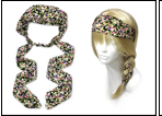 IH0162 FLOWERS WRAP HEADBAND