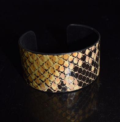 JCB1275 SNAKE SKIN ORANGE BANGLE