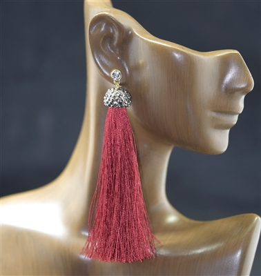 JCE343 LONG TASSEL EARRINGS