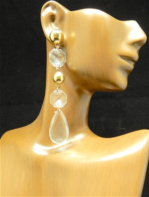 JCE504 CLEAR TEARDROP EARRINGS