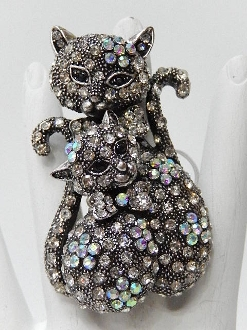 KCT543 TWO CATS STRETCH RING