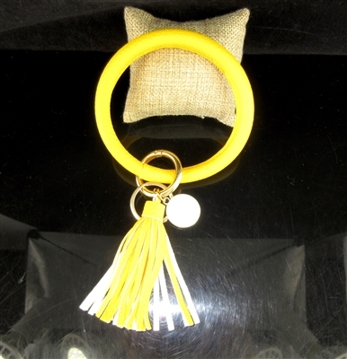 KR78939 YELLOW SOLID COLOR KEY RING