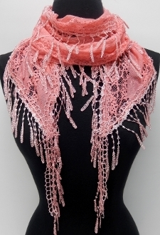 LS-003 CORAL SCARF
