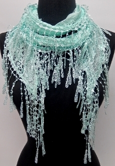 LS-007 LIGHT BLUE SCARF