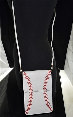 MB0055 WHITE BASEBALL CROSSBODY BAG