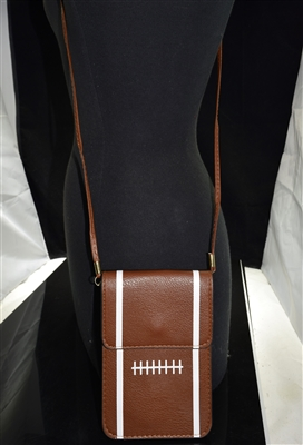 MB0056 BROWN FOOTBALL CROSSBODY BAG