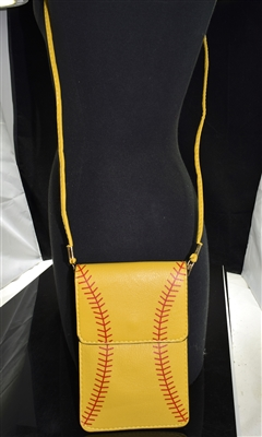 MB0057 YELLOW SOFTBALL CROSSBODY BAG
