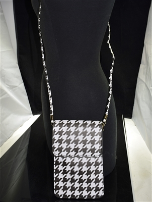 MB0058 SMALL HOUNDSTOOTH CROSSBODY BAG