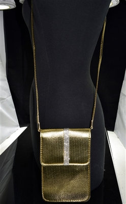 MB0060 METALLIC RHINESTONE CROSSBODY BAG