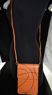 MB0061 ORANGE BASKETBALL CROSSBODY BAG
