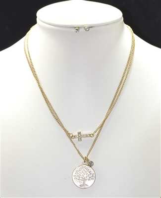 MVS7280 SMALL TREE OF LIFE NECKLACE SET
