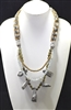 N6317 CRYSTAL/STONE BEADED BULKY NECKLACE