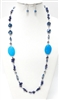 NK0023 Beads/Stones Necklace Earrings Set