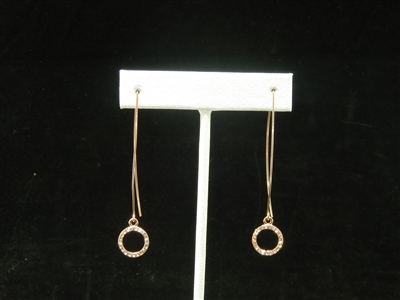 NE0904 RHINESTONE CIRCLE THIN EARRING