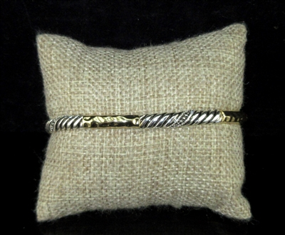 OB05900 ANTIQUE HAMMERED STRETCH BRACELET