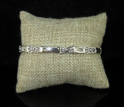 OB06283 ANTIQUE SILVER STRETCH BRACELET