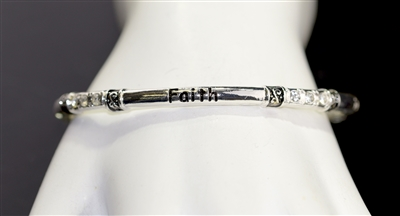 OB06657 ANTIQUE -FAITH- STRETCH BRACELET
