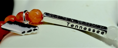 OB07421T BEADED STRETCH ''TENNESSEE'' BRACELET
