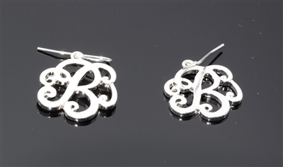 OE1537S B MONOGRAM EARRINGS