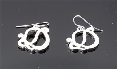 OE1539S D MONOGRAM EARRINGS