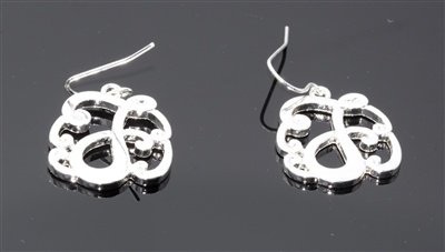 OE1543S J MONOGRAM EARRINGS